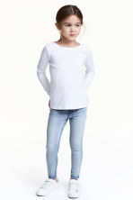 Superstretch denim leggings - Light denim blue - Kids | H&M 1
