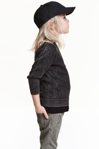 Jumper with a washed look - Black washed out -  | H&M 1