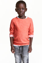 Pull en maille envers - Orange fluo -  | H&M FR 1