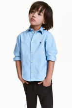 Cotton shirt - Light blue - Kids | H&M CA 1