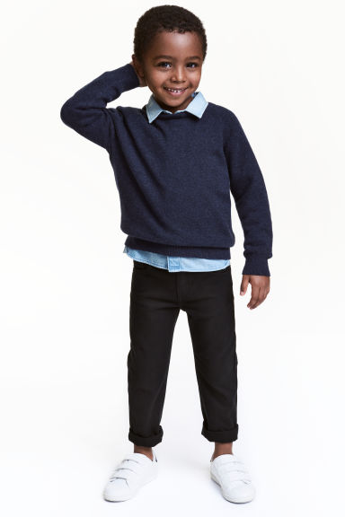 Twillbyxa Regular fit - Svart - Kids | H&M FI 1