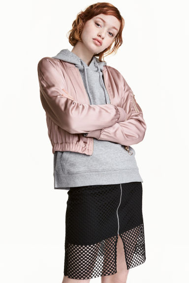 Short bomber jacket - Old rose - Ladies | H&M 1