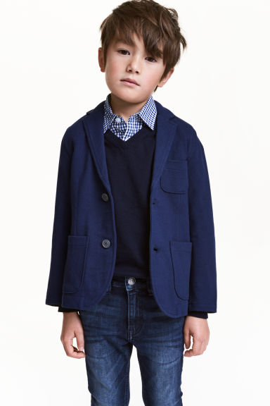 Piqué jacket - Dark blue - Kids | H&M CN 1