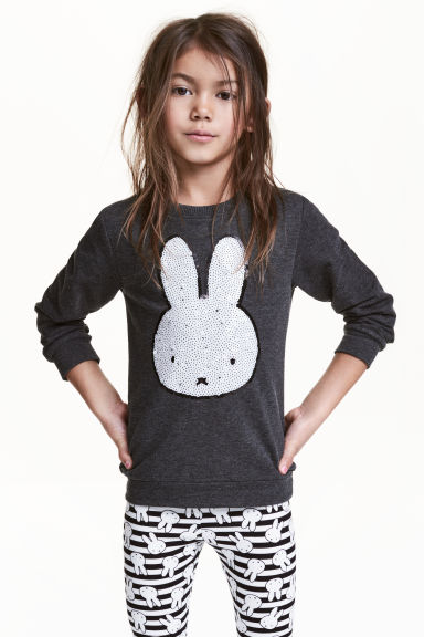Printed sweatshirt - Dark grey/Miffy - Kids | H&M