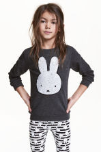Printed sweatshirt - Dark grey/Miffy - Kids | H&M 1
