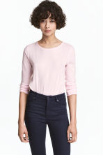 Long-sleeved top - Light pink - Ladies | H&M 1