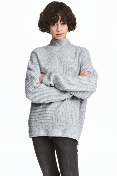 Ribbed jumper - Grey marl - Ladies | H&M CN 1