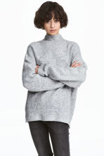 Ribbed jumper - Grey marl -  | H&M 1