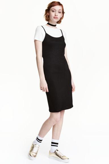 Slip dress with a top - Black - Ladies   H&M GB