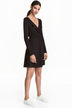Wrap dress - Black - Ladies | H&M CN 1