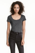 T-shirt in jersey - Grigio scuro mélange - DONNA | H&M IT 1