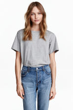 Jersey T-shirt - Grey marl - Ladies | H&M CN 1
