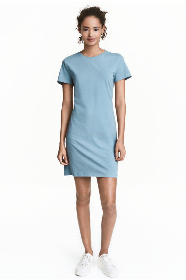 Jersey dress - Turquoise -  | H&M CA 1