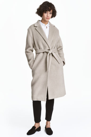Felted wool-blend coat - Light mole - Ladies | H&M 1