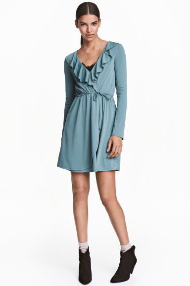 Wrap dress - Petrol - Ladies | H&M CN 1