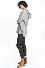 Coated trousers with lacing - Black - Ladies | H&M 1