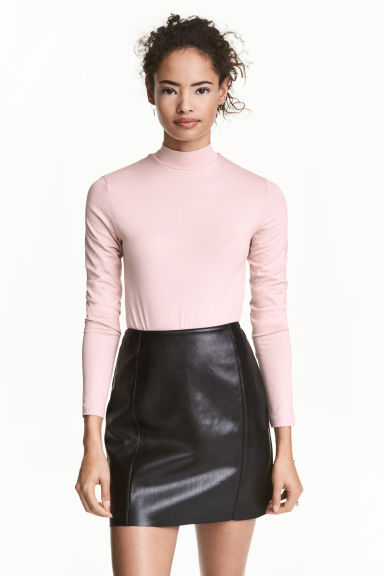 Turtleneck body - Powder pink - Ladies | H&M CN 1