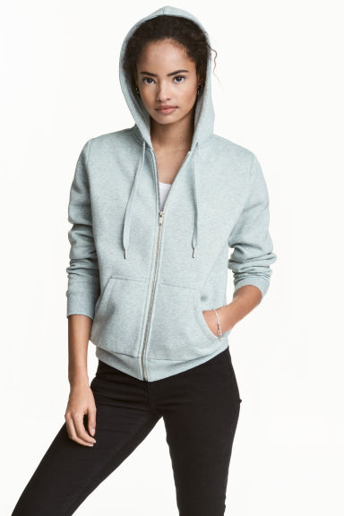 Hooded jacket - Mint green marl - Ladies | H&M 1