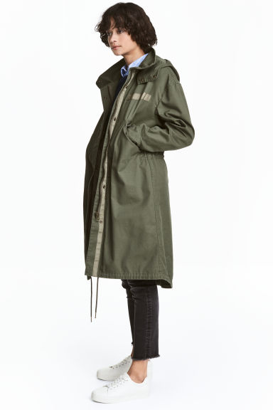 Parka with a detachable lining - Khaki green - Ladies | H&M CN 1
