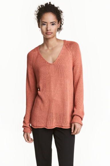 Knitted jumper - Apricot - Ladies | H&M 1