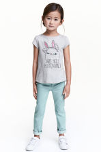 Twill trousers - Dusky green - Kids | H&M CN 1