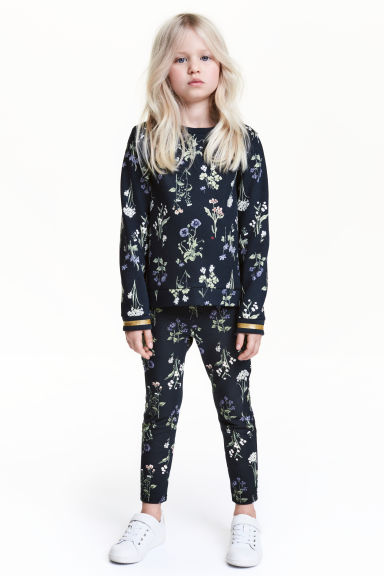 Treggings - Dark blue/Floral - Kids | H&M CN 1