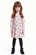 Printed jersey dress - Pink/Cats - Kids | H&M 1