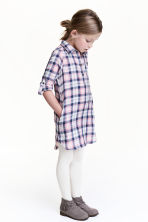 Shirt dress - Pink/Checked - Kids | H&M CN 1