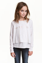 Glittery jersey top - White marl - Kids | H&M 1