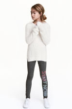 Leggings - Dark grey marl - Kids | H&M 1