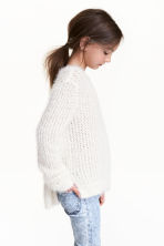 Knitted jumper - Natural white - Kids | H&M CN 1