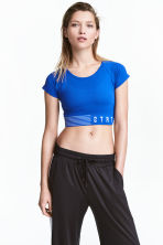 Short sports top - Blue - Ladies | H&M 1