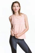Sports vest top - Powder pink marl - Ladies | H&M CN 1