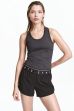 Sports vest top - Dark grey marl - Ladies | H&M 1
