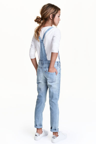 Salopette en denim - Bleu denim clair - ENFANT | H&M FR 1