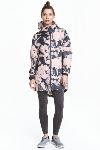 Outdoor parka - Dark grey/Floral - Ladies | H&M 1