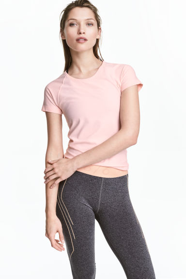 Seamless sports top - Light pink marl - Ladies | H&M 1