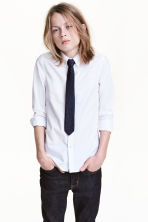 Shirt with tie/bow tie - White -  | H&M 1