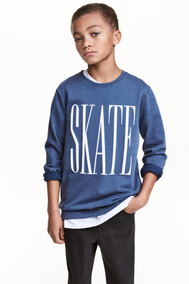Printed sweatshirt - Blue - Kids | H&M
