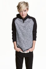 Jersey hooded top - Black/Narrow striped - Kids | H&M CN 1