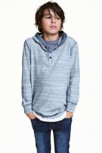 Jersey hooded top - Blue marl - Kids | H&M 1
