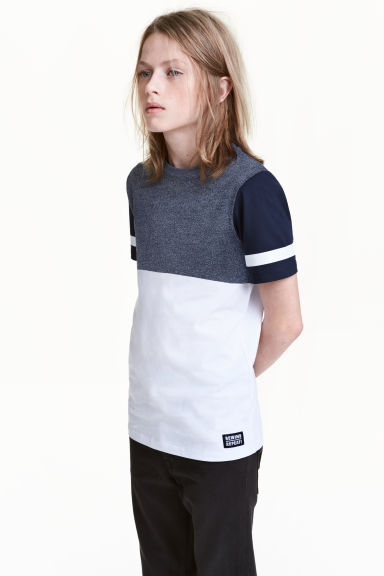 T-shirt - White/Dark blue -  | H&M 1