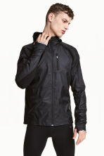 Running jacket with a hood - Black - Men | H&M CN 1
