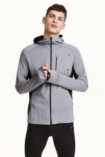 Hooded running jacket - Grey marl - Men | H&M 1