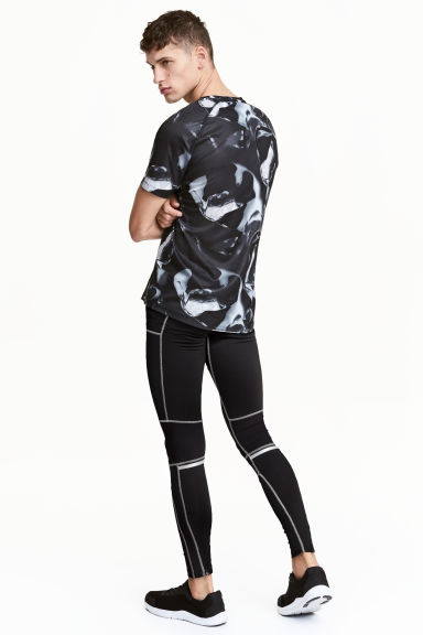 Collant running - Noir - HOMME | H&M FR