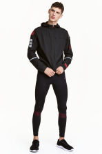 Running tights - Black/Red - Men | H&M CN 1