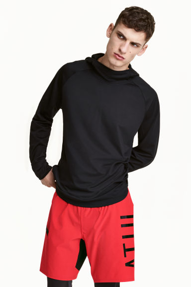 Knee-length sports shorts - Red - Men | H&M CN 1