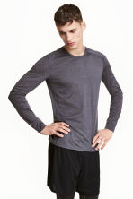 Sports top - Dark grey marl - Men | H&M CN 1