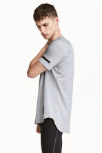 Short-sleeved sports top - Grey marl - Men | H&M CN 1