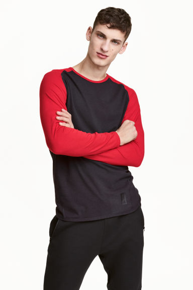 Sports top - Black/Red - Men | H&M CN 1
